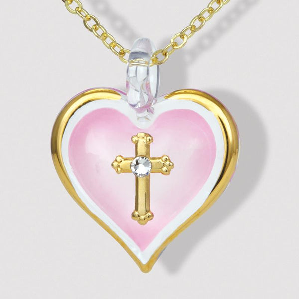 Small Heart & Cross Necklace