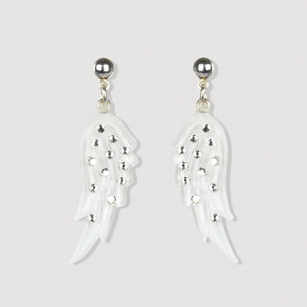 Silver Angel Wing Earrings
