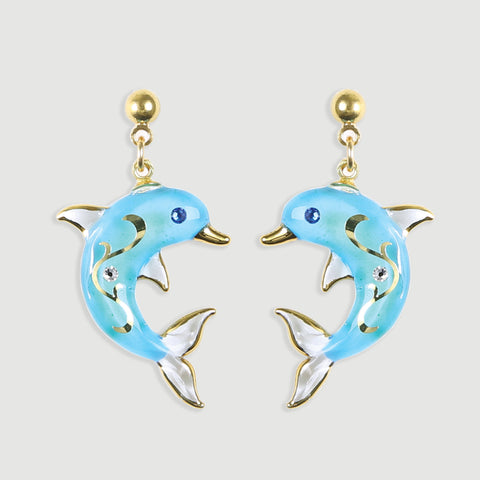 Turquoise Dolphin Earrings