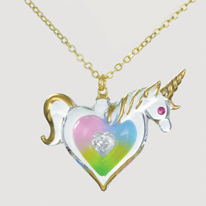 Precious Heart Unicorn Necklace