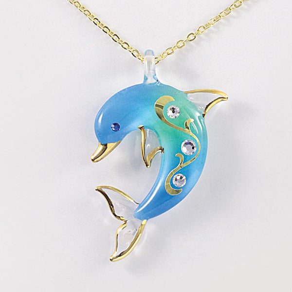 Turquoise Dolphin Necklace