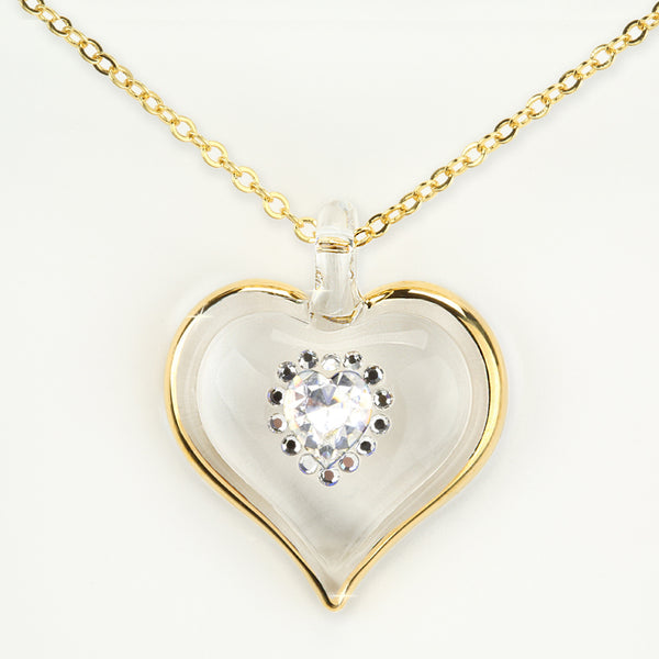 April Birthstone Sparkle Heart Necklace