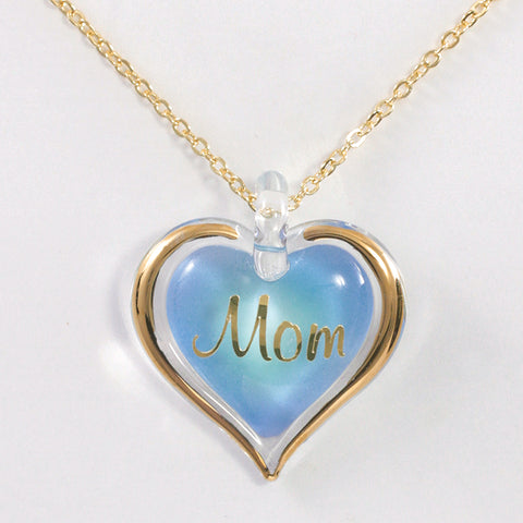 """Mom"" Heart Necklace"