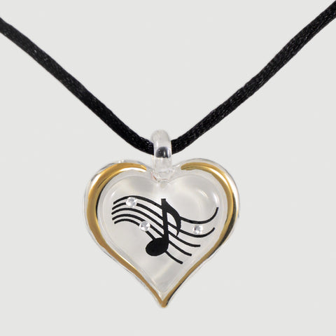 Musical Heart Necklace