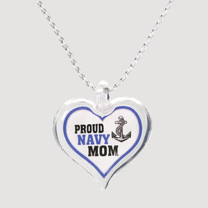 Proud Navy Mom Necklace
