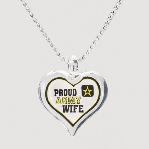 Proud Army Wife Necklace