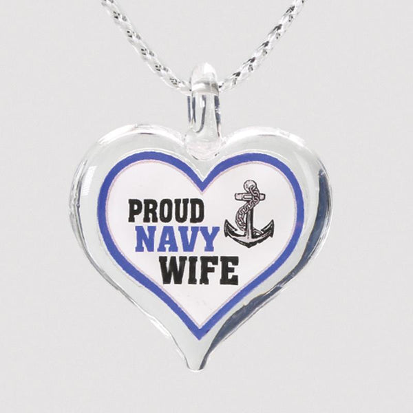 Proud Navy Wife Necklace