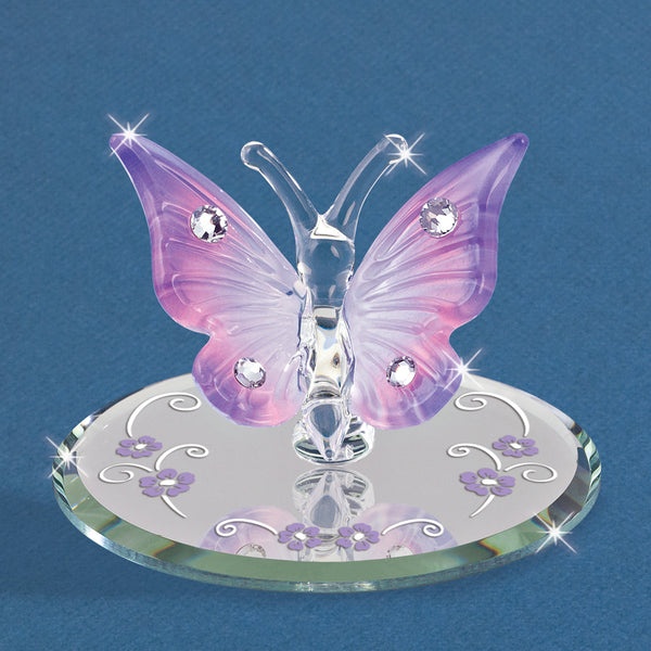 Lavender Butterfly with Crystals
