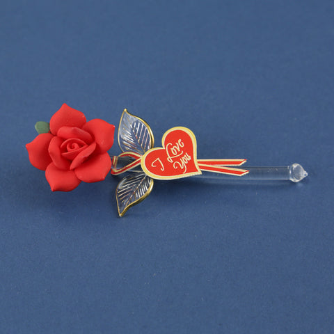 "Mini ""I Love You"" Red Rose"
