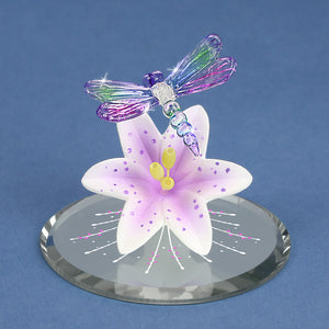 Dragonfly with Lavender Lily
