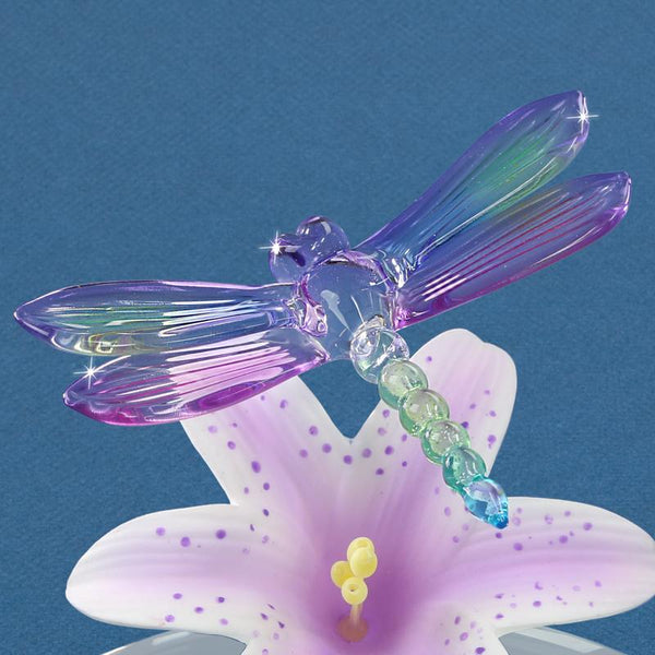 Lavender Lily with Dragonfly