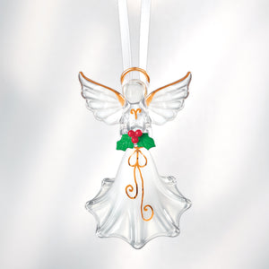 Angel with Holly Ornament