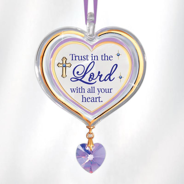 Trust in the Lord Heart Ornament