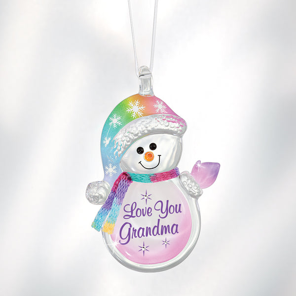 'Love You Grandma' Snowman Ornament