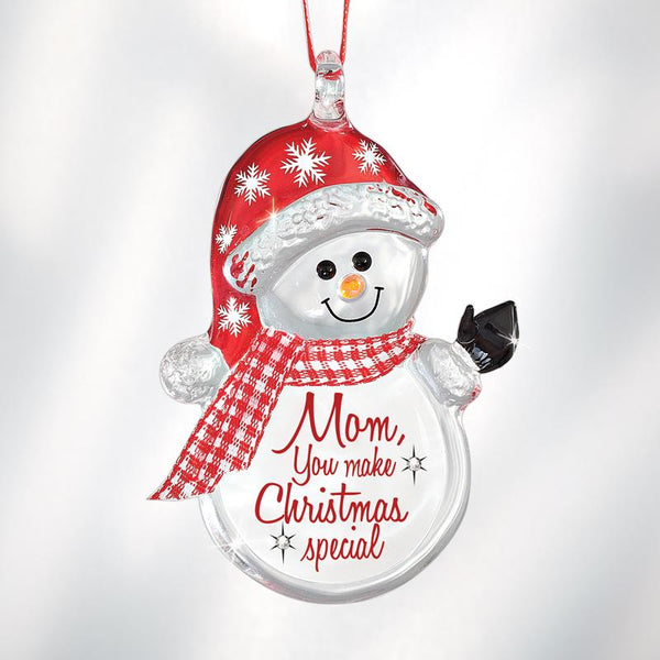 """Mom Makes Christmas Special"" Snowman Ornament"