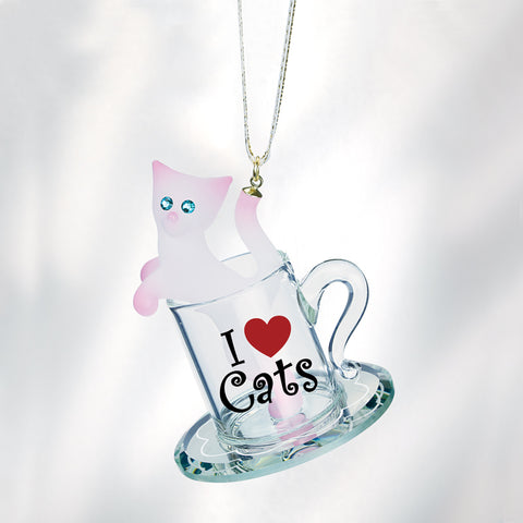 Kitty Cup Ornament
