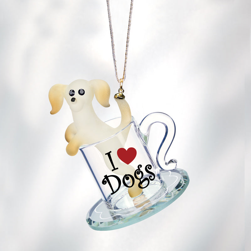 Pup in a Cup Ornament