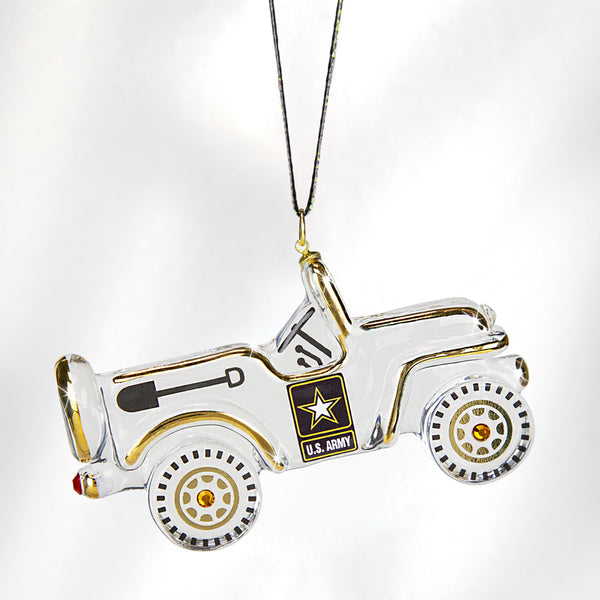 Army Jeep Ornament