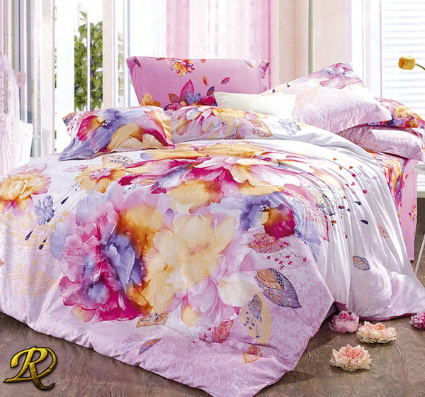 Cotton Sateen Print Bedding Sets