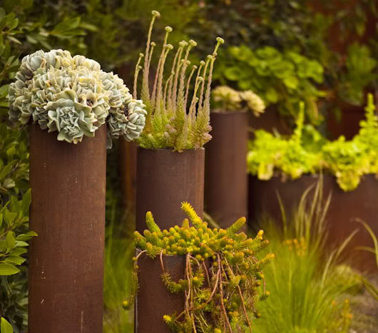 6 Ideas for Creating an Industrial Style Garden Space