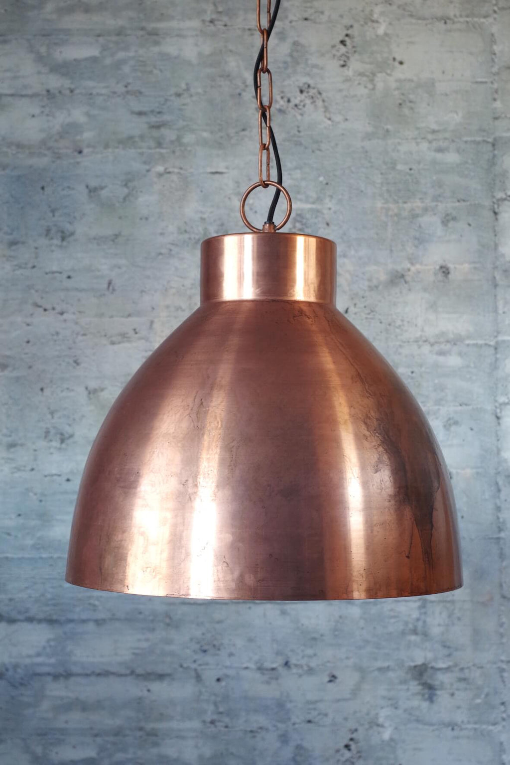 Distressed Copper Pendant Light