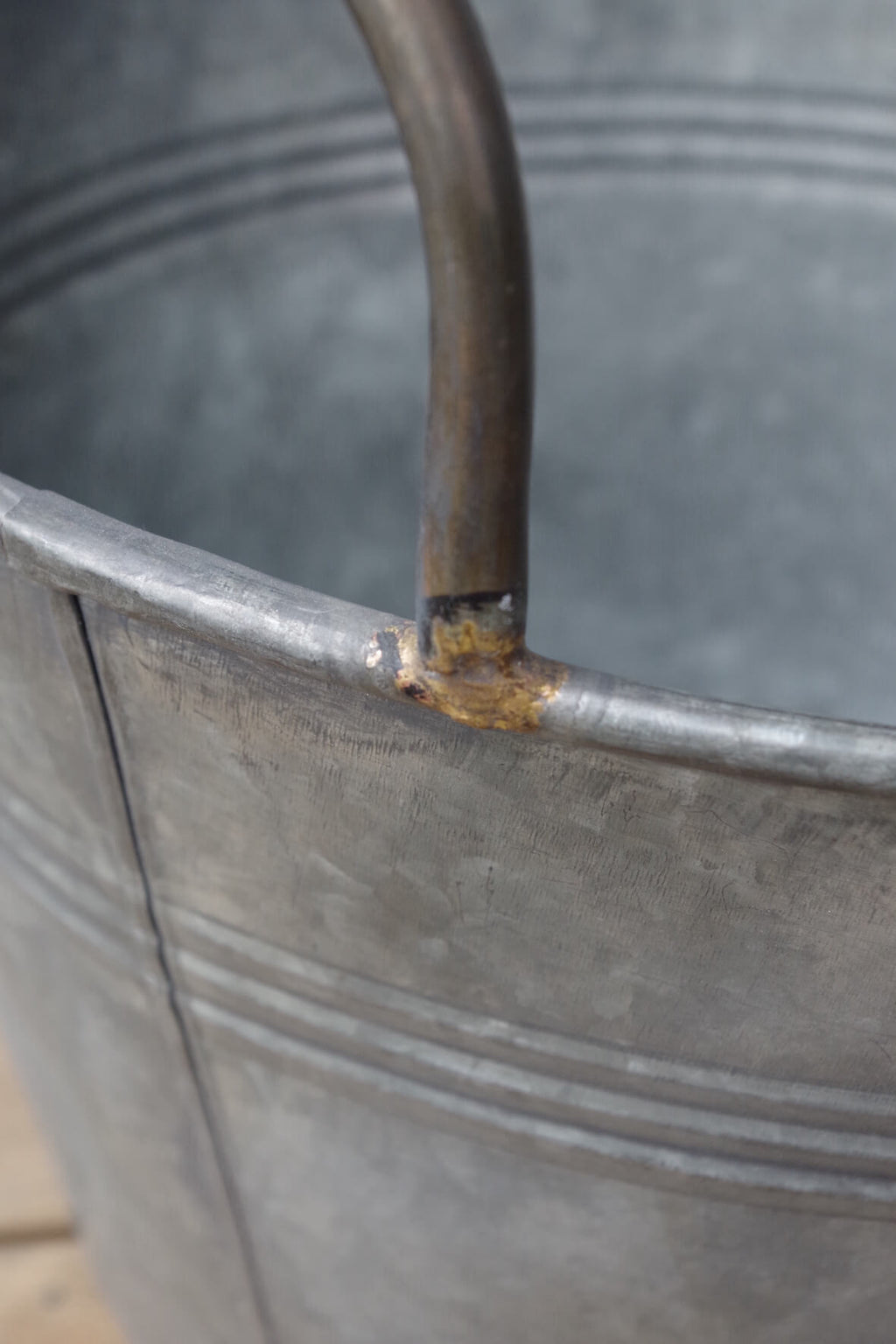 Galvanised Bucket Planters - Set of 2