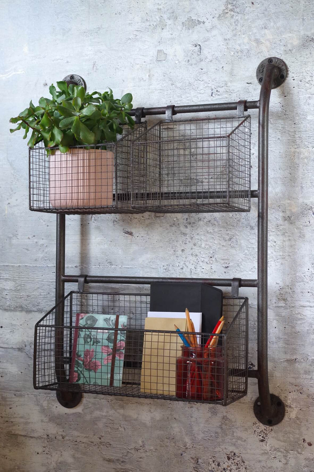 Industrial Wall Mounted Wire Baskets