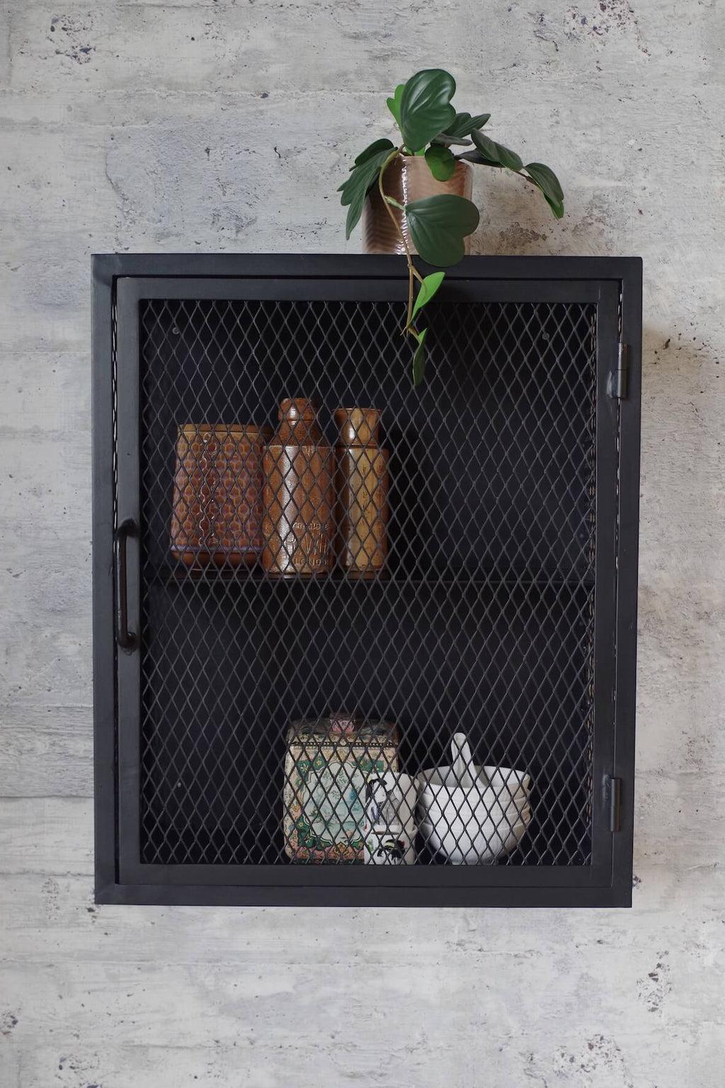 Industrial Mesh Wall Cabinet