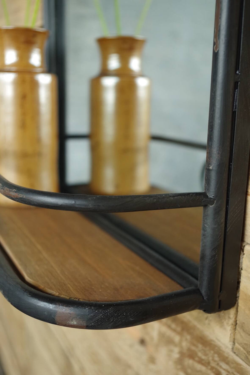 Industrial Hanging Mirror Shelf