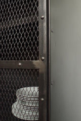 Industrial Mesh Cupboard - Grey