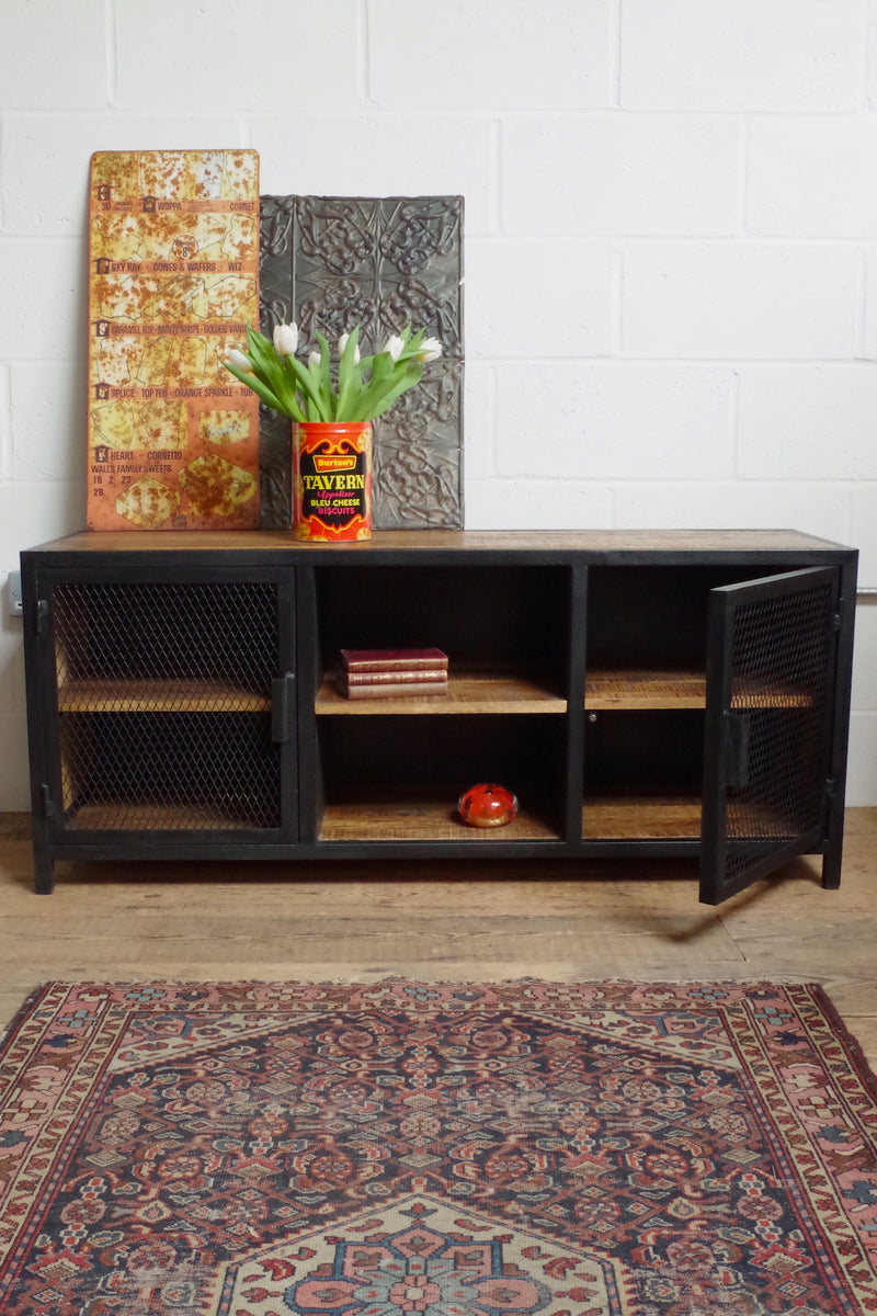 Industrial Mesh Sideboard or tv stand.