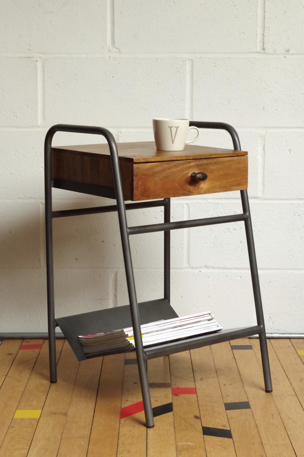 Industrial Style Schoolhouse Side Table Vincent And Barn