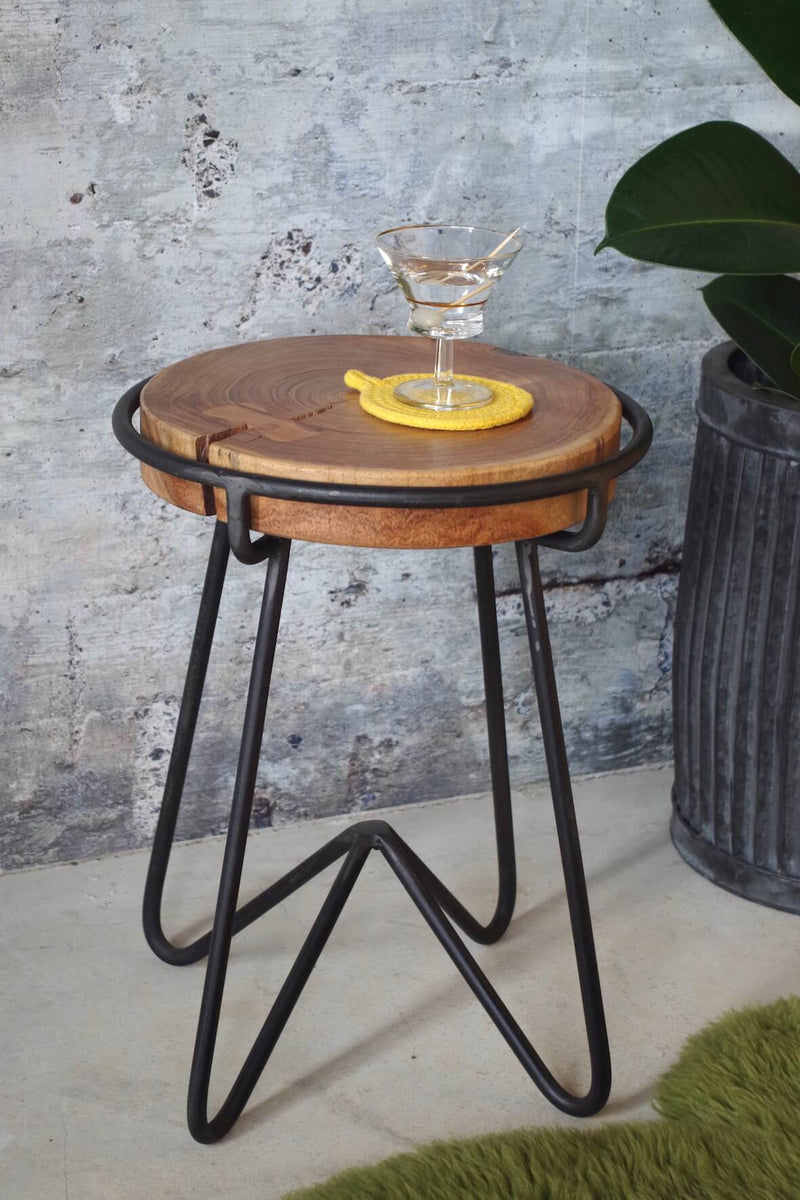 Living Edge Industrial Style Side Table