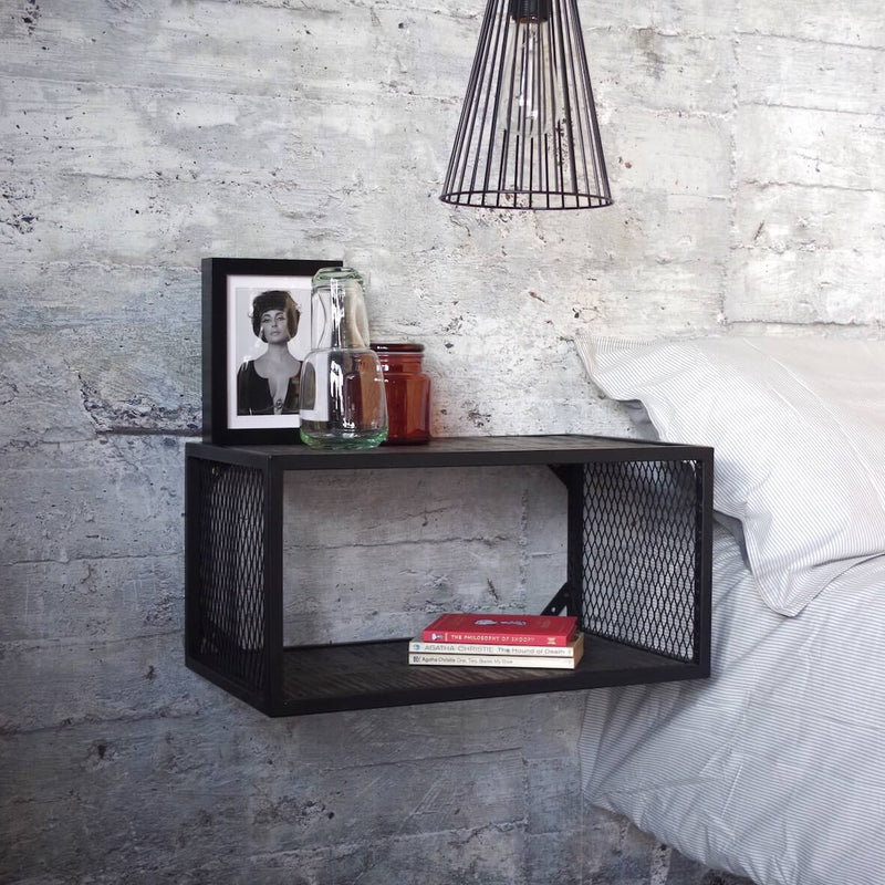 Mesh Wall Mounted Bedside Table