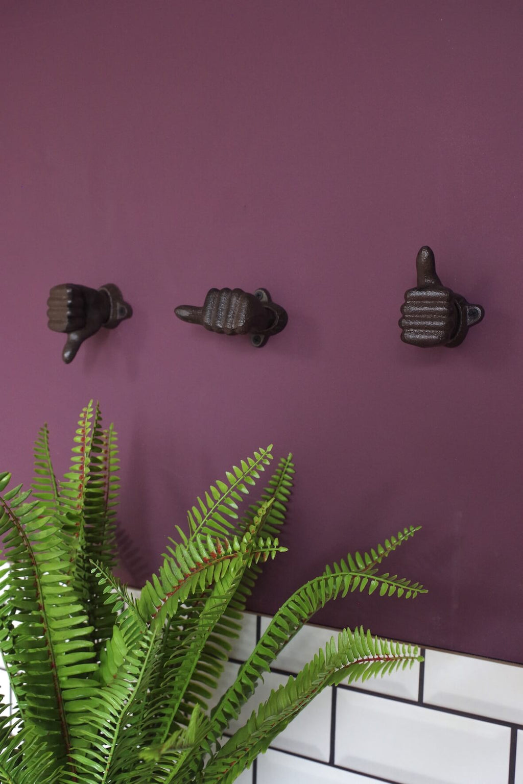 Thumbs Up Coat Hooks - Set of 3