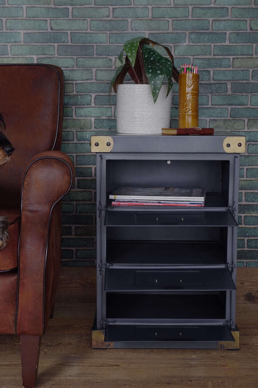 Vintage Industrial Style Cabinet