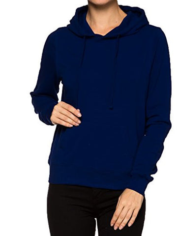 Juniors Active Classic Pull Over Hoodied Sweater Shirt Top - Fashion Sense - 1