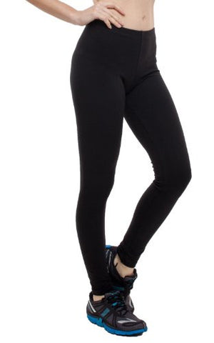 T-Party Basic Cotton Athletic Stretchy Elastic Waist Band Long Leggings - Fashion Sense - 1