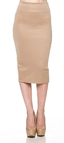 Pencil Tight High Waist Knee Skirt - Fashion Sense - 1