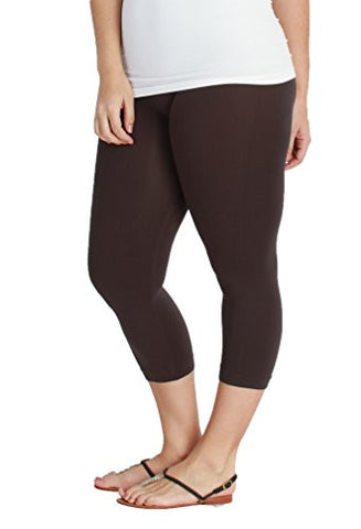 PLUS Nikibiki Basic Thick Nylon Jersey Capri Leggings - Fashion Sense - 2