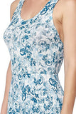 Floral Printed Summer Dress With Strappy Back - Fashion Sense - 10