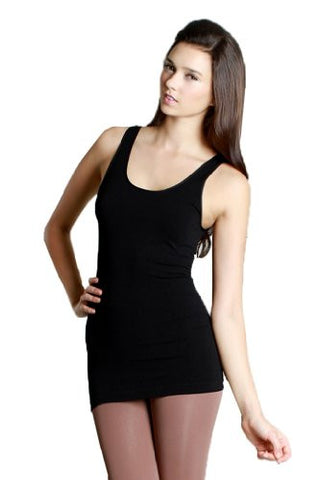 Nikibiki Plain Jersey Soft Muscle Long Tank Top - Fashion Sense - 1