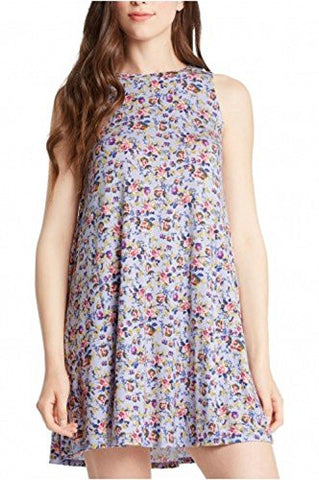 Floral Print Sleeveless Crewneck Midi Dress - Fashion Sense - 1
