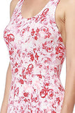 Floral Printed Summer Dress With Strappy Back - Fashion Sense - 5