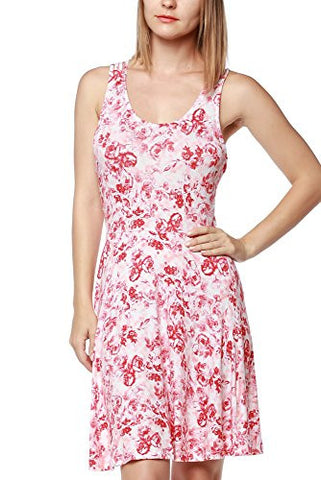 Floral Printed Summer Dress With Strappy Back - Fashion Sense - 1
