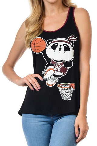 Basketball Panda Tank Top