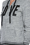 "Active 2-Tone Terry ""Love"" Print Hoodie - Fashion Sense - 5"