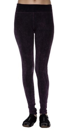 T-Party Acid Mineral Washed Yoga Long Leggings - Fashion Sense - 1
