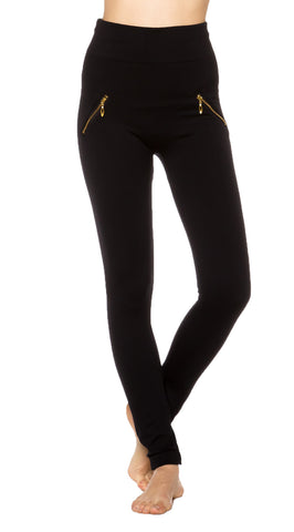 Zipper Stretch Long Legging Yoga/Gym Pants - Fashion Sense - 1