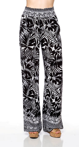 Tropical Prints Palazzo Pants - Fashion Sense - 1